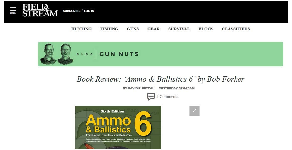 Ammo & Ballisctics Book Review