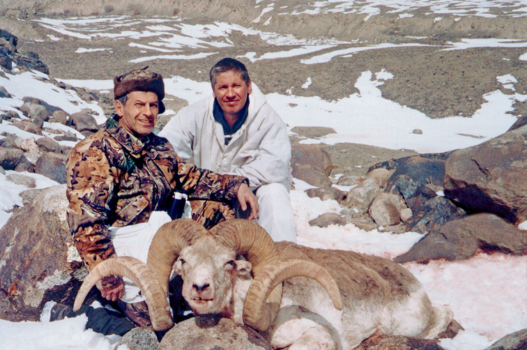 "Soudy took ths 64"" Marco Polo argali in Prince Valley"