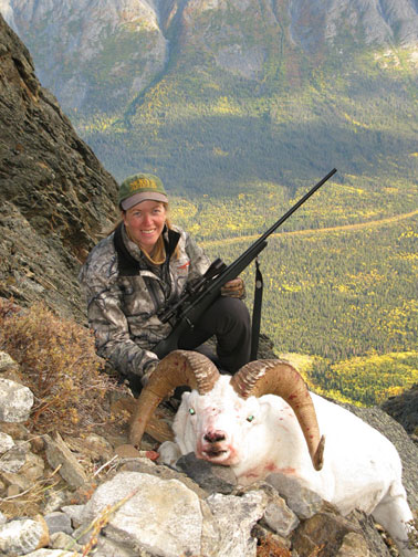 Diana Rupp with Dall Sheep
